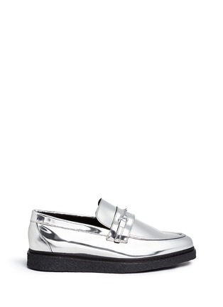Main View - Click To Enlarge - Opening Ceremony - 'Sloan' mirror leather creeper loafers