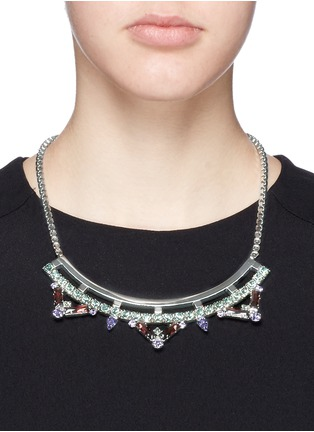 Figure View - Click To Enlarge - Joomi Lim - 'Pixel Perfect' cube crystal necklace