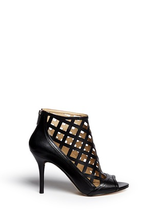Main View - Click To Enlarge - Michael Kors - 'Yvonne' cutout leather open toe caged booties