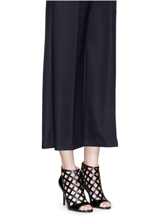 Figure View - Click To Enlarge - Michael Kors - 'Yvonne' cutout leather open toe caged booties