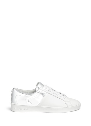 Main View - Click To Enlarge - Michael Kors - 'Toby' colourblock leather sneakers