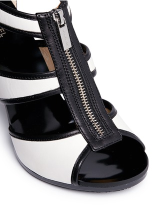 Detail View - Click To Enlarge - Michael Kors - 'Berkley' caged leather sandals