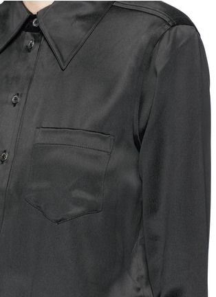 Detail View - Click To Enlarge - Equipment - 'Archive Luis' silk charmeuse shirt