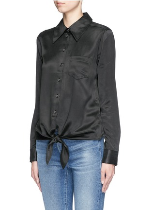 Front View - Click To Enlarge - Equipment - 'Archive Luis' silk charmeuse shirt
