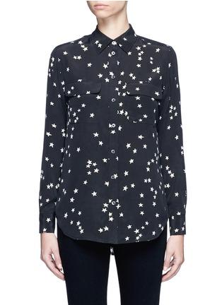 Main View - Click To Enlarge - Equipment - 'Slim Signature' star print silk shirt
