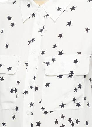 Detail View - Click To Enlarge - Equipment - 'Slim Signature' star print silk shirt
