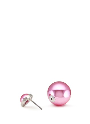 Detail View - Click To Enlarge - KENNETH JAY LANE - Double sphere earrings
