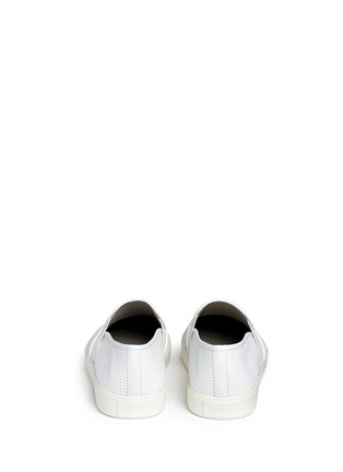 Back View - Click To Enlarge - Vince - 'Blair' perforated leather skate slip-ons