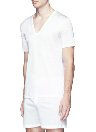 Figure View - Click To Enlarge - ZIMMERLI - 252 Royal Classic' V-neck jersey undershirt