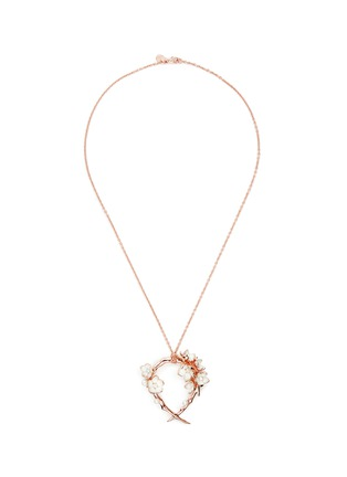 Main View - Click To Enlarge - Shaun Leane - Branch hoop pendant diamond and cultured pearl necklace