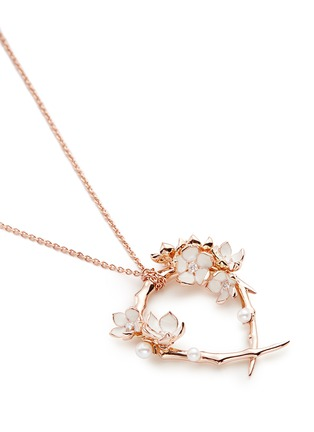 Figure View - Click To Enlarge - Shaun Leane - Branch hoop pendant diamond and cultured pearl necklace