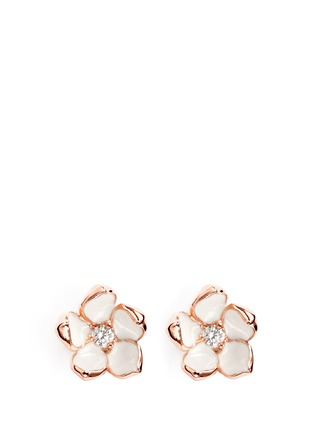 Main View - Click To Enlarge - Shaun Leane - Cherry blossom diamond earrings