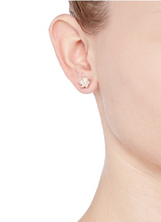 Figure View - Click To Enlarge - Shaun Leane - Cherry blossom diamond earrings