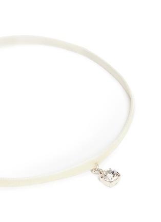 Detail View - Click To Enlarge - Joomi Lim - 'Shadow of Love' Swarovski crystal velvet choker necklace
