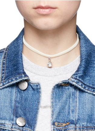 Figure View - Click To Enlarge - Joomi Lim - 'Shadow of Love' Swarovski crystal velvet choker necklace