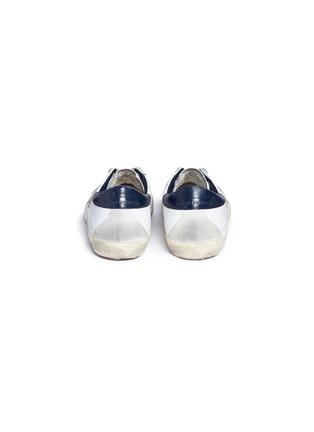 Back View - Click To Enlarge - GOLDEN GOOSE - 'Superstar' brushed calfskin leather sneakers