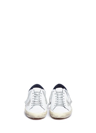 Front View - Click To Enlarge - GOLDEN GOOSE - 'Superstar' brushed calfskin leather sneakers