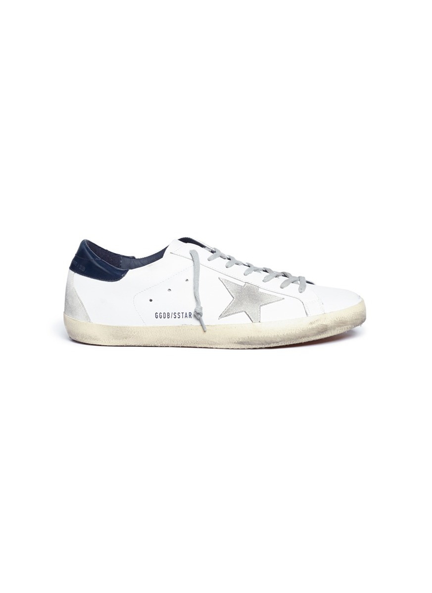 Superstar brushed calfskin leather sneakers by Golden Goose