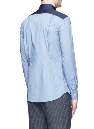 Back View - Click To Enlarge - kolor - Polka dot Western yoke cotton shirt