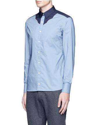 Front View - Click To Enlarge - kolor - Polka dot Western yoke cotton shirt