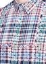 Detail View - Click To Enlarge - kolor - Polka dot patch check plaid bib shirt