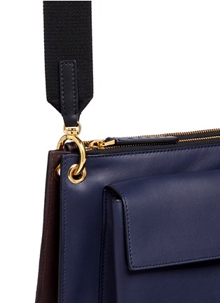 Detail View - Click To Enlarge - Marni - 'Bandoleer' detachable pouch leather shoulder bag