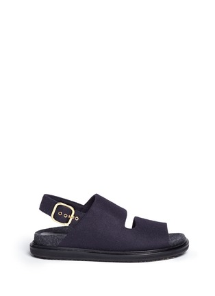 Main View - Click To Enlarge - MARNI - 'Fussett' felt slingback sandals