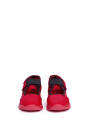 Front View - Click To Enlarge - Marni - Strap mesh neoprene effect sneakers