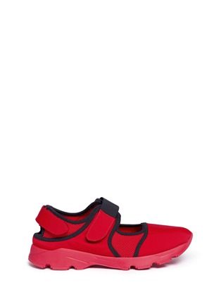 Main View - Click To Enlarge - Marni - Strap mesh neoprene effect sneakers
