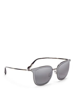 Figure View - Click To Enlarge - Oliver Peoples - 'Annetta' acetate temple metal square sunglasses