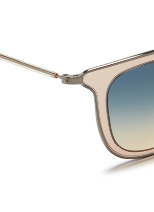 Detail View - Click To Enlarge - Oliver Peoples - 'Anetta' acetate temple metal square sunglasses