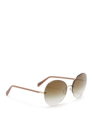 Figure View - Click To Enlarge - Oliver Peoples - 'Jorie' rimless oversize round sunglasses