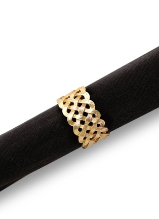 Main View - Click To Enlarge - L'Objet - Braid Napkin Ring Set