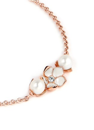 Detail View - Click To Enlarge - Shaun Leane - Cherry blossom diamond and cultured pearl bracelet