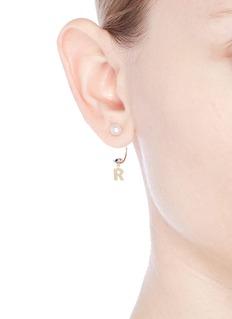 Delfina Delettrez 'ABC Micro Eye Piercing' freshwater pearl 18k yellow gold single earring – R