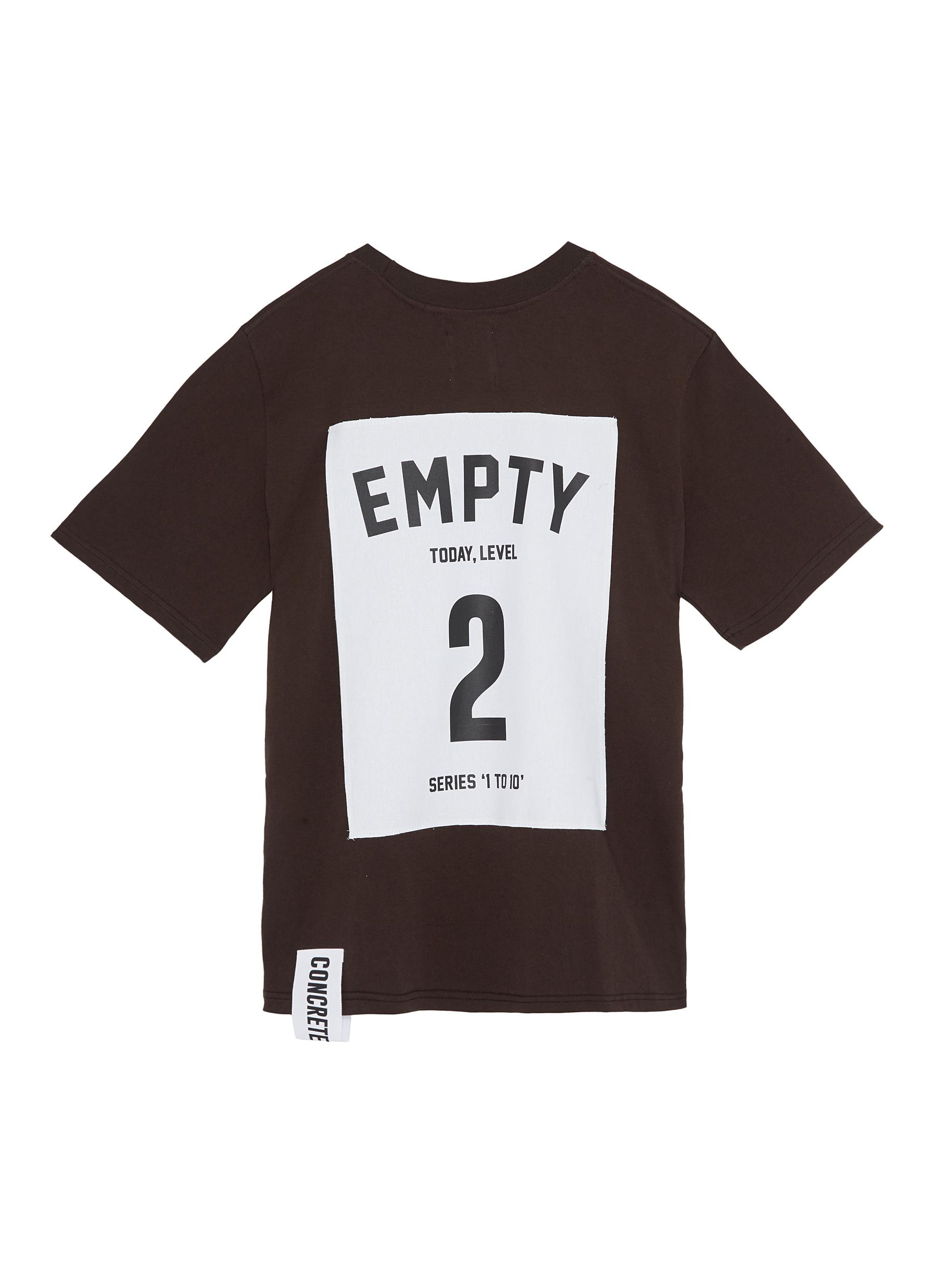 Series 1 to 10 oversized unisex T-shirt – 2 Empty by Studio Concrete