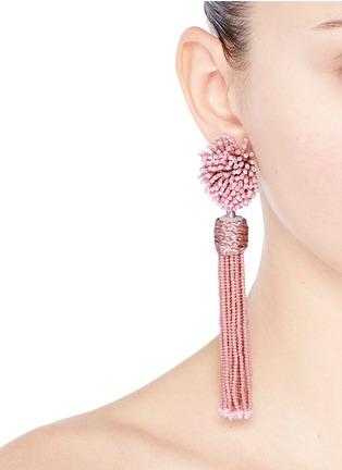 Figure View - Click To Enlarge - MIGNONNE GAVIGAN - 'Lana' beaded pompom tassel earrings