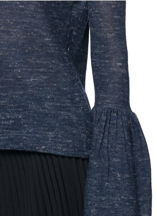 Detail View - Click To Enlarge - Co - Bell cuff wool blend sweater