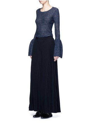 Figure View - Click To Enlarge - Co - Bell cuff wool blend sweater