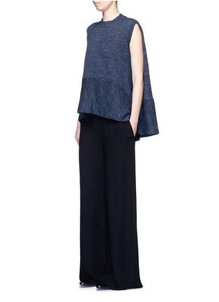 Figure View - Click To Enlarge - Co - Wool blend sleeveless cape sweater