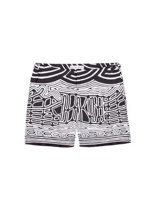 Main View - Click To Enlarge - Orlebar Brown - 'Bulldog Aboriginal' geometric print swim shorts