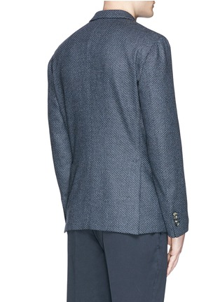 Back View - Click To Enlarge - BOGLIOLI - 'K-Jacket' wool-cashmere herringbone soft blazer
