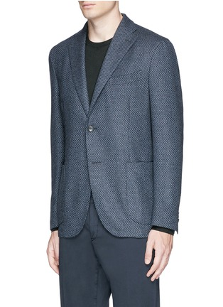 Front View - Click To Enlarge - BOGLIOLI - 'K-Jacket' wool-cashmere herringbone soft blazer