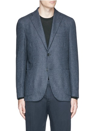Main View - Click To Enlarge - BOGLIOLI - 'K-Jacket' wool-cashmere herringbone soft blazer