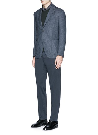 Figure View - Click To Enlarge - BOGLIOLI - 'K-Jacket' wool-cashmere herringbone soft blazer
