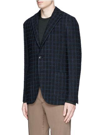 Front View - Click To Enlarge - Boglioli - 'K-Jacket' check bouclé soft blazer
