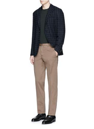 Figure View - Click To Enlarge - Boglioli - 'K-Jacket' check bouclé soft blazer