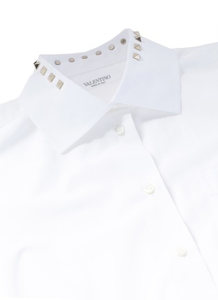 Detail View - Click To Enlarge - Valentino - 'Rockstud Untitled 05' poplin shirt