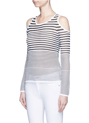 Front View - Click To Enlarge - RAG & BONE/JEAN - 'Brenna' gradient stripe cutout shoulder sweater