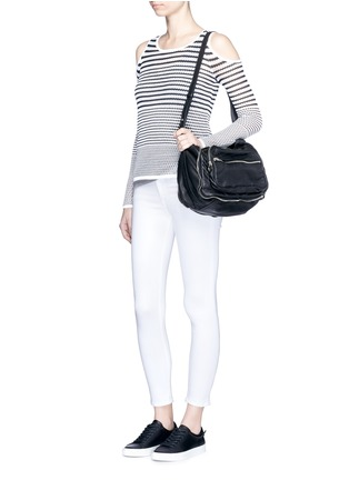 Figure View - Click To Enlarge - RAG & BONE/JEAN - 'Brenna' gradient stripe cutout shoulder sweater